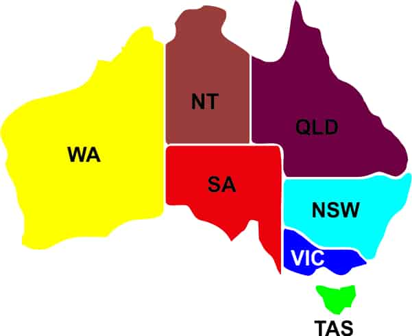 Sheds Australia Delivery Map